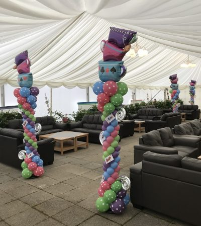 Alice Teacup Towers Balloon Decor Scotland