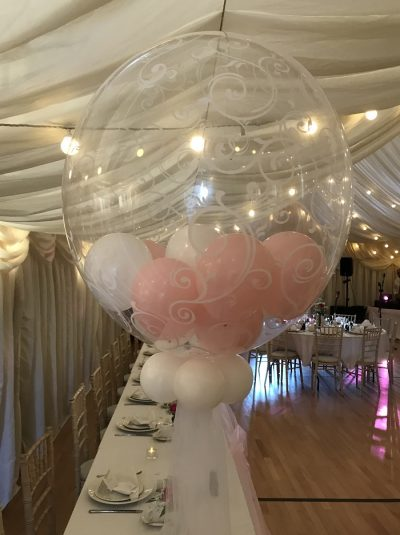 Weddings, Aberdeen, Moray, bubble Balloon decorations